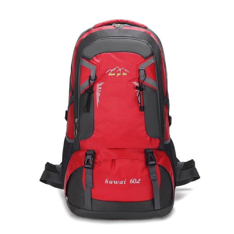 (海外直發)60L大容量戶外登山包防潑水尼龍旅行包情侶雙肩休閒運動旅遊背包