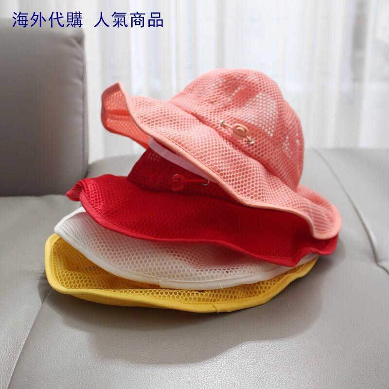 嬰兒遮陽帽女兒童防曬嬰幼兒夏天寶寶帽子夏季薄款網紅公主帽