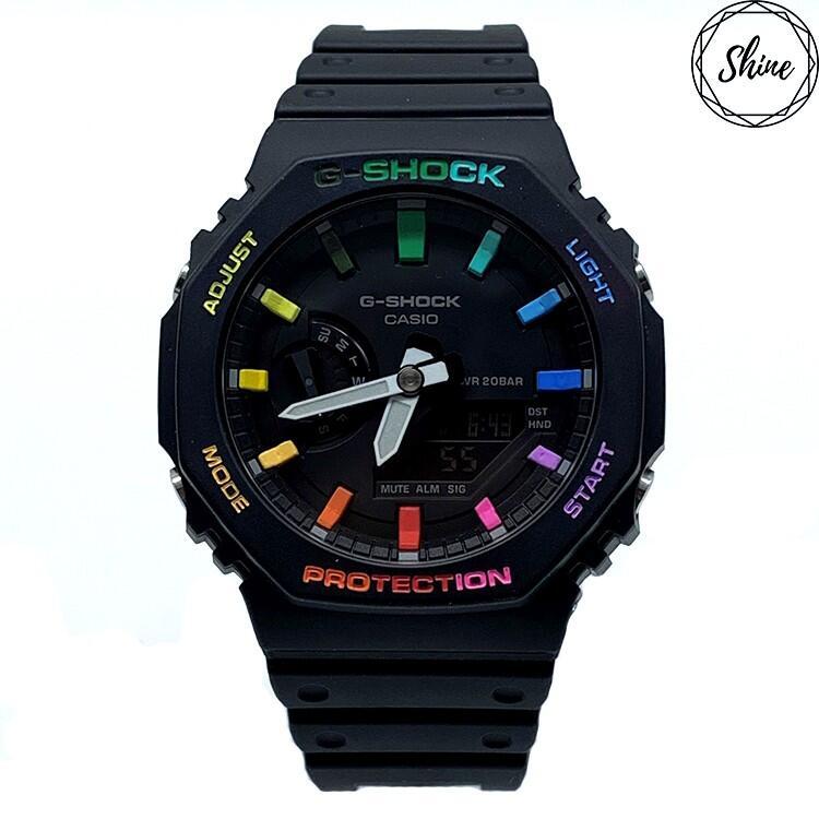 改裝 GA-2100 / GA-2110 手錶 客製彩虹12刻度和錶殼字 [Shinecollectionhk]