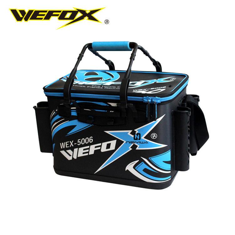 WEFOX 臺灣威狐 WEX-5006 活魚桶 EVA硬式餌料箱磯釣 餌袋釣魚桶