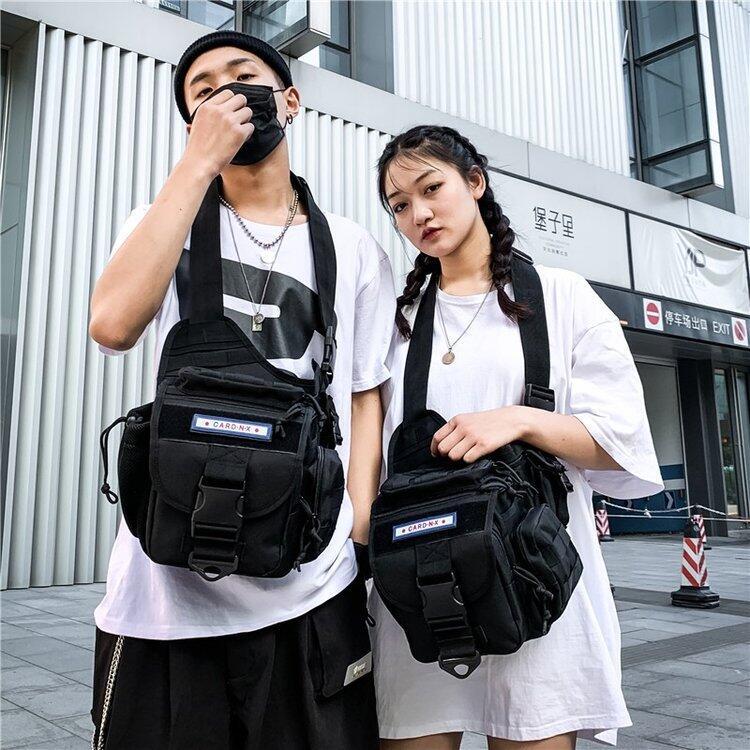多功能胸包背包男女戰術軍式小胸包迷彩戶外帆布胸包單肩斜挎包