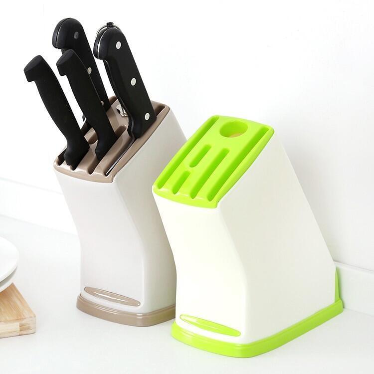 【石屋家居】創意廚房 6孔刀具架 多功能收納架 置物架 刀座 菜刀架 創意廚房用品 塑料刀架 刀座 刀具收納架