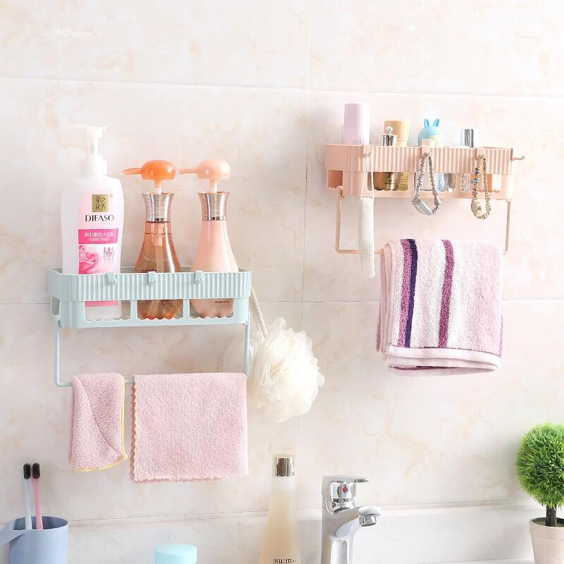 【石屋家居】浴室置物架 可掛毛巾架 整理架 廚房多功能收納架 壁掛式 無痕整理架 衛生間收納架 洗浴用品收納架