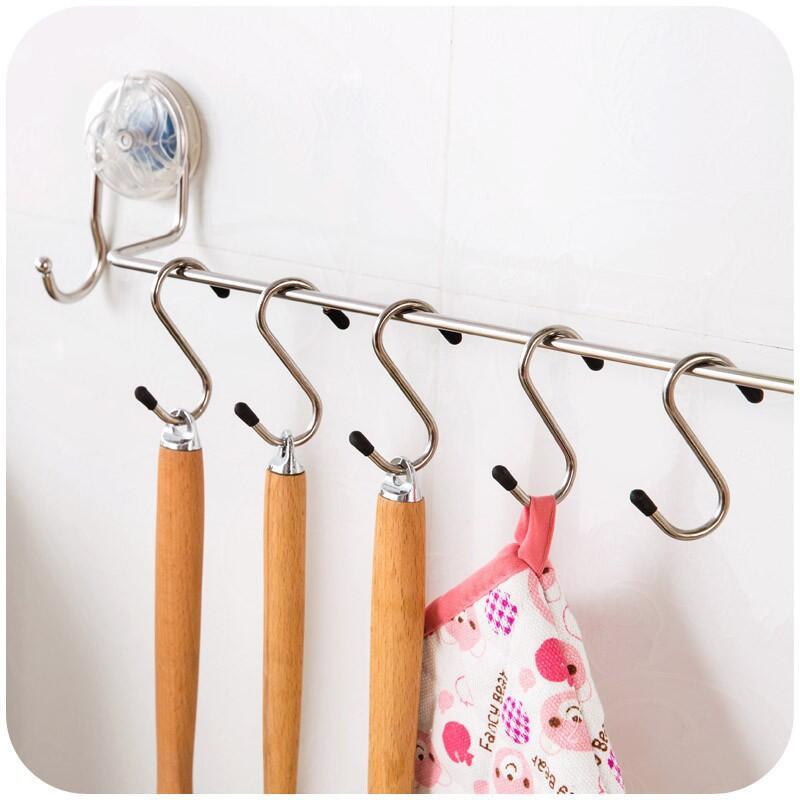 【石屋家居】收納系列 廚房浴室不銹鋼S型掛鉤 多用掛鉤 4個一組