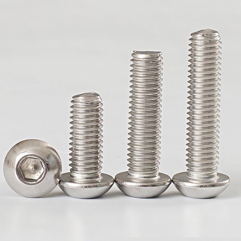 優質 包郵M2M2.5M3M4M5M6M8M10 304不銹鋼盤頭/圓頭內六角螺絲*8-10-12