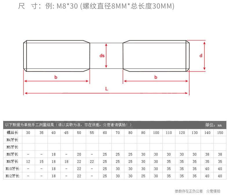 優質 M18M22M24M27M30 不銹鋼304雙頭螺栓雙頭牙螺丝杆螺柱非標定做