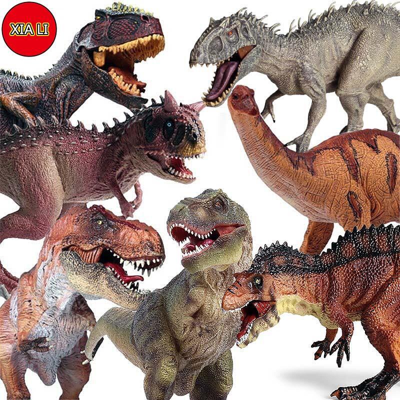 【現貨】兒童侏羅紀實心仿真恐龍玩具動物模型 暴龍 霸王龍 棘龍 暴虐迅猛龍 腕龍 恐龍模型野生動物擺件手辦 早教認知禮物