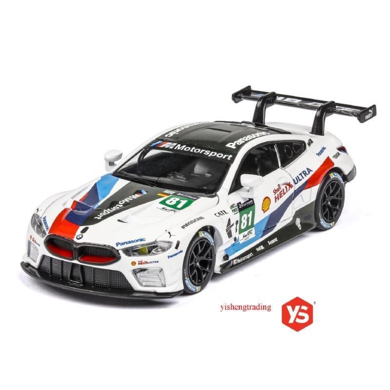 汽車模型 1:32 合金車 BMW M8 GTE 聲光回力車 勒芒賽事車 仿真模型車 正版授權