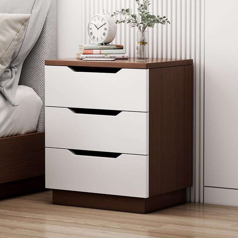 床頭柜置物架簡約現代輕奢網紅臥室床邊柜迷你收納柜子小型儲物柜F091621