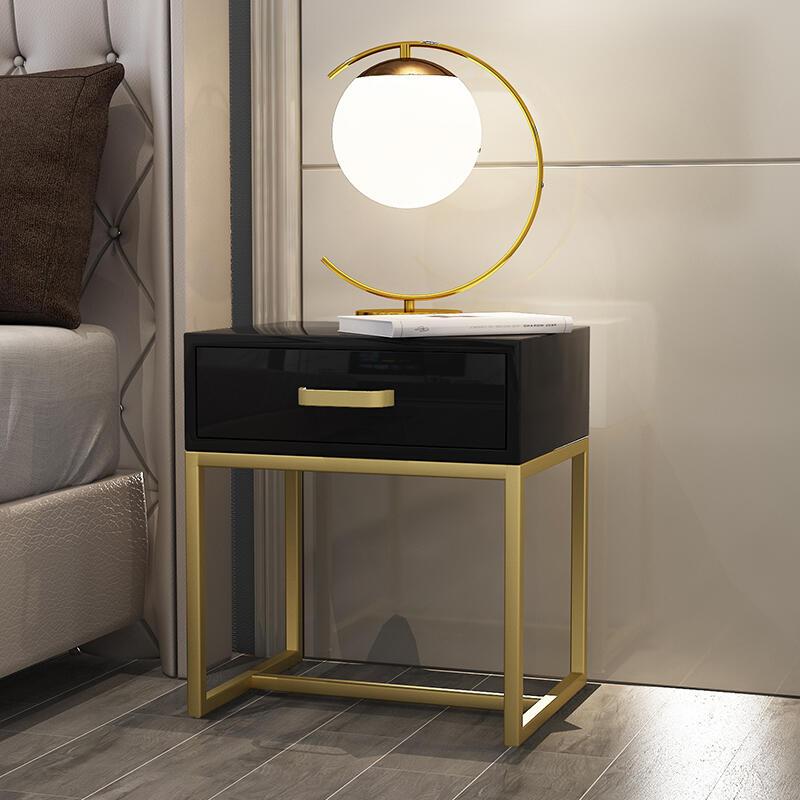免安裝床頭柜簡約現代小型置物架收納儲物沙發邊幾雙層角方形定制F091621