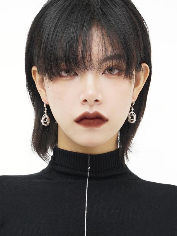 Muses 長款圓圈耳環小眾設計感高級耳飾女新款潮耳墜耳釘