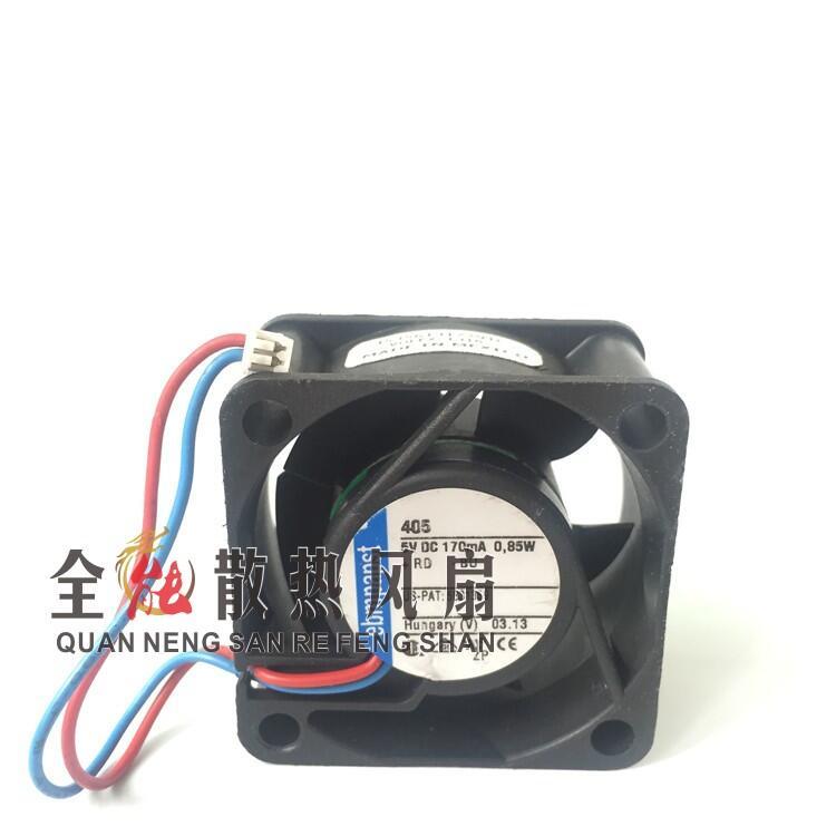 免運 原裝德國ebmpapst 依必安派特405F 5v 0.85W儀器儀表用散熱風扇