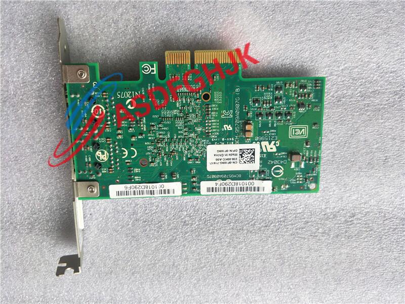 原裝戴爾DELL bcm5709C 雙口千兆網卡全高F169G G218C 0F169G