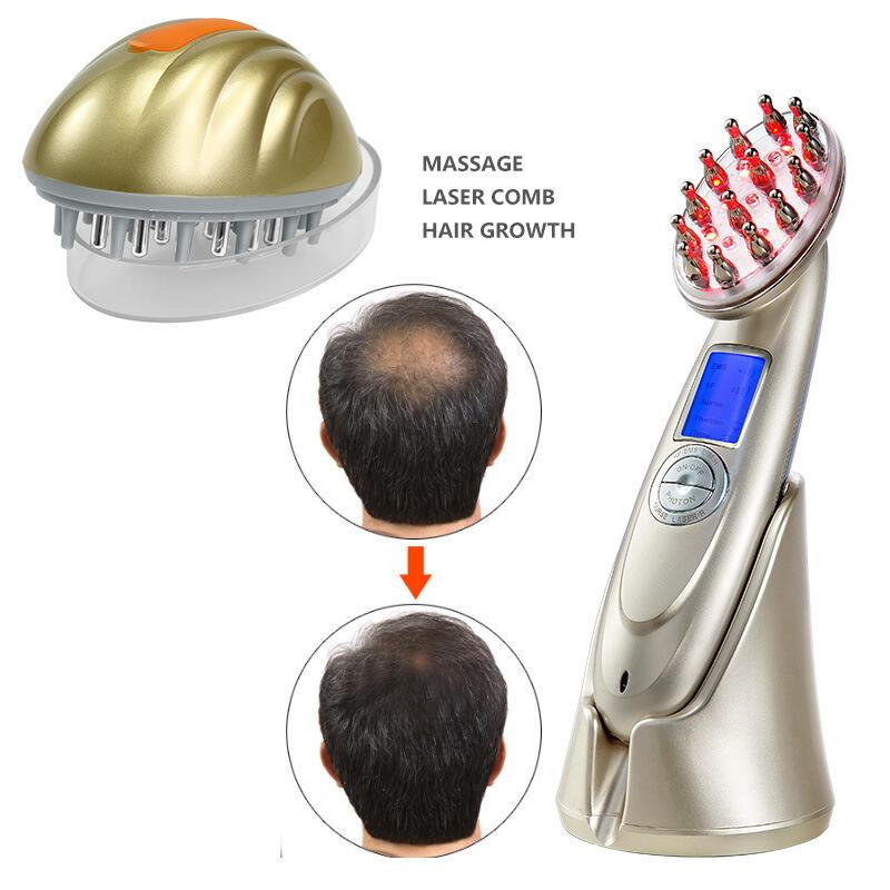 跨境電動射頻按摩美發儀出口頭皮上藥儀家用電動紅光按摩護發儀器