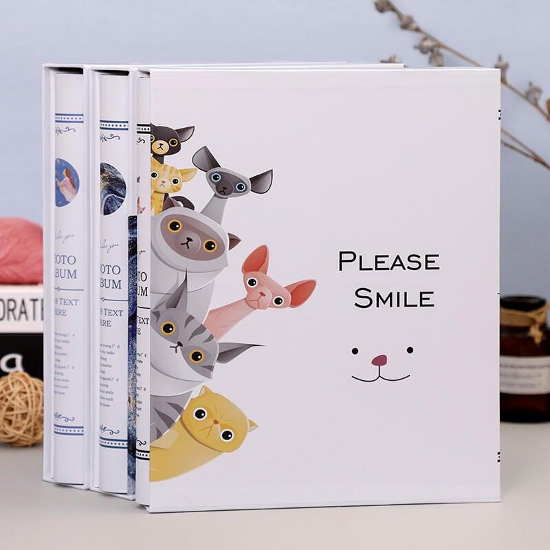 相冊影集本大容量4寸5寸6寸裝插頁式家庭紀念冊豎版過塑照片400張  新生