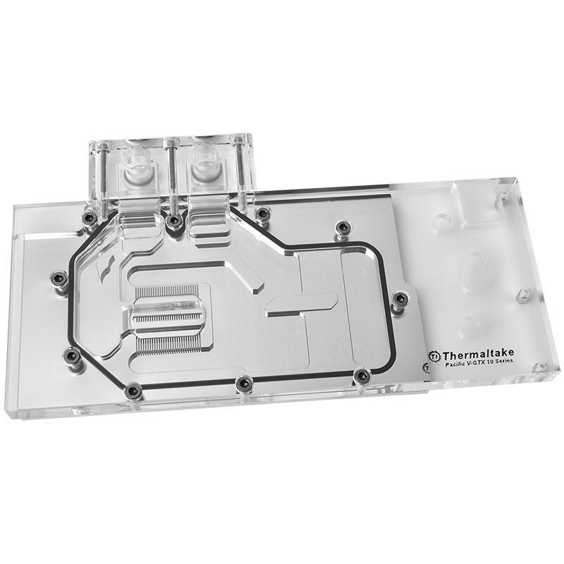 Tt顯卡水冷頭GTX 1080/1070 公版透明顯卡水冷頭全覆蓋微流道
