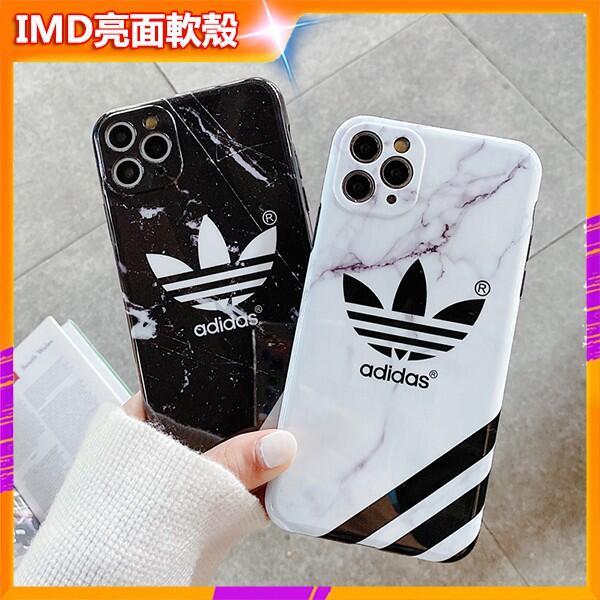 潮牌手機殼 愛迪達 大理石紋 iphone 11 12 Pro max XR I8 I7 SE2 7Plus 8Plus