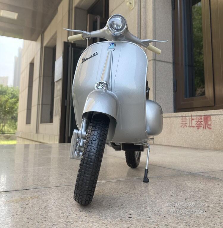 現貨熱銷1/3Piaggio Vespa gs150比亞喬韋士柏小綿羊合金仿真摩托車模型