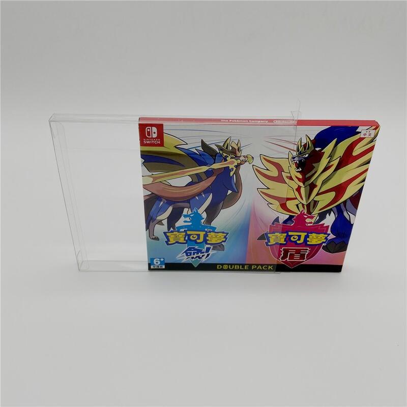 日版港版switch NS寶可夢劍盾同捆版專用透明收藏展示盒保護盒