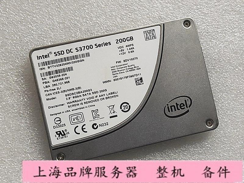【拆機】INTEL/英特爾 S3700 S3710 200G  SATA 2.5固態硬碟SSDSC