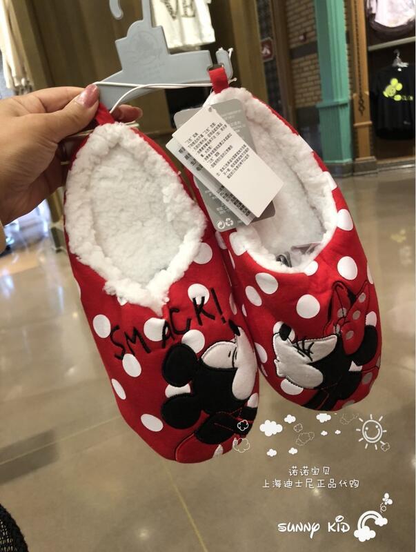 特價上海迪士尼米奇米妮卡通成人拖鞋冬季保暖家居鞋室內鞋