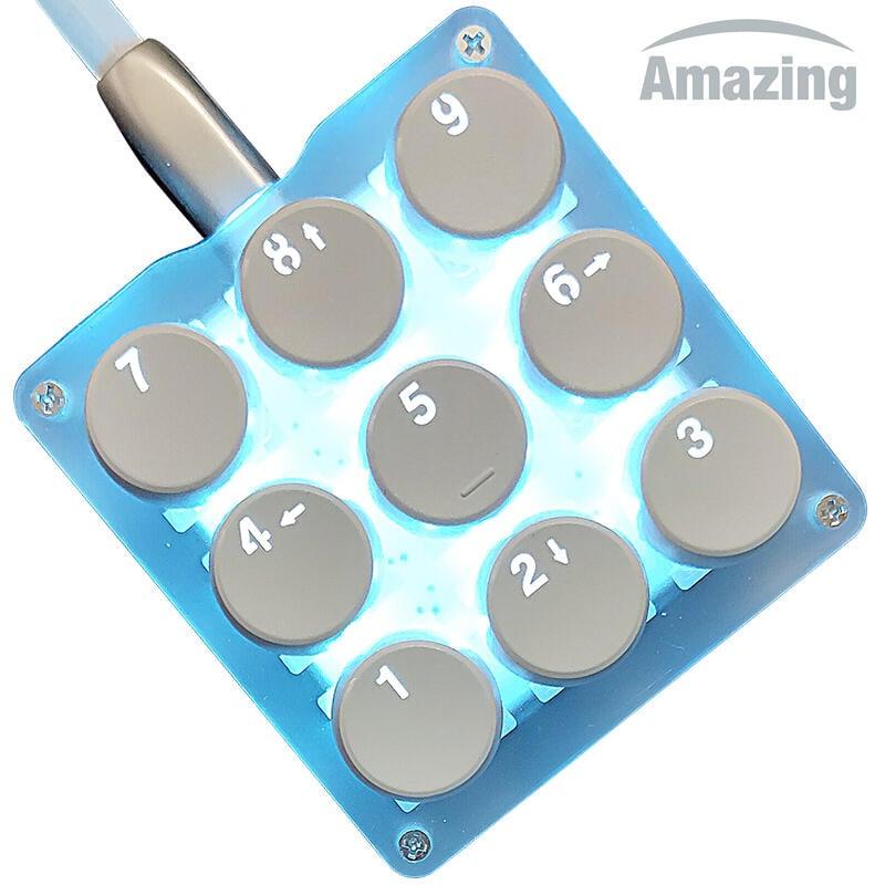 9鍵機械鍵盤小鍵盤osu鍵盤音遊鍵盤宏編程鍵盤迷你便攜自定義鍵盤