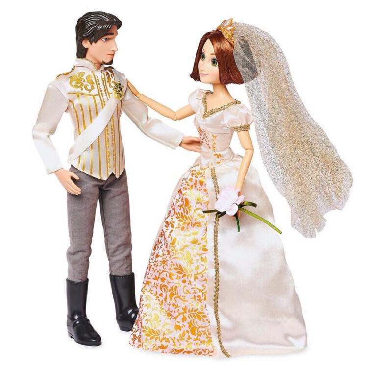 玩具【特價預購】上海美國迪士尼2019新版樂佩魔法奇緣長髮公主婚紗芭比公主芭比娃娃蛋堡的魔法棒海外代購