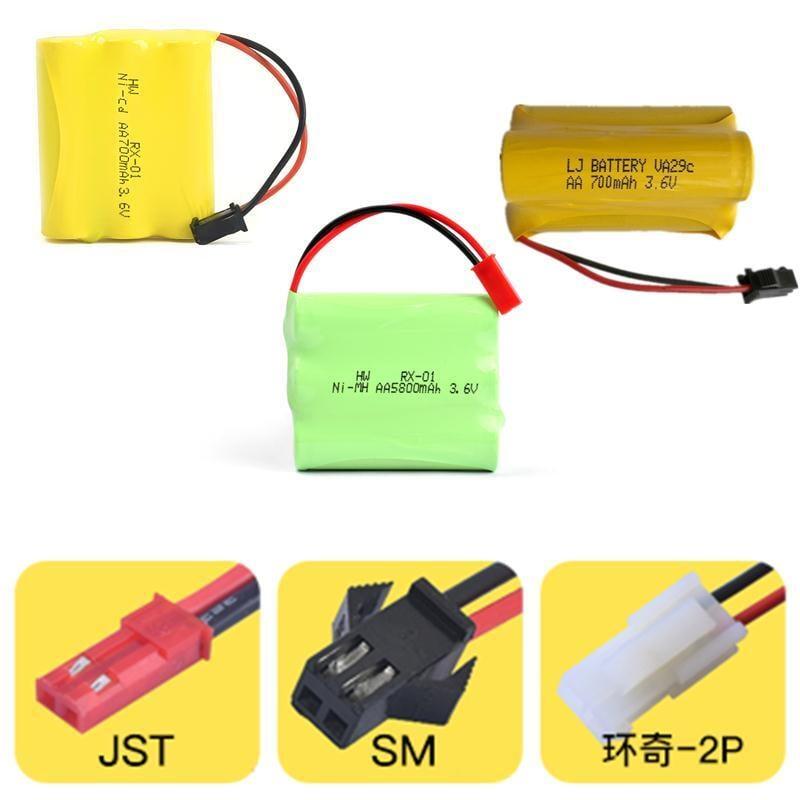 (滿300發貨)5號電池玩具遙控車充電電池組AA鎳鎘玩具充電電池 3.6V 伏700毫安