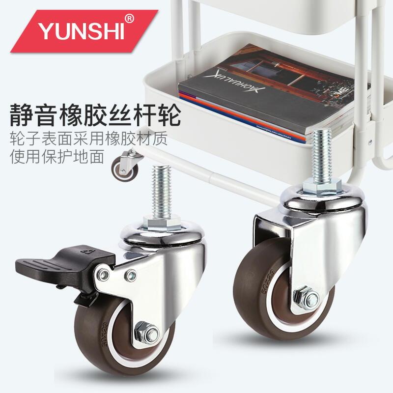 1寸1.5寸2寸靜音腳輪帶剎車萬向輪腳輪橡膠丝杆螺絲腳輪家具滑輪