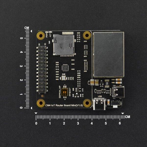 DFRobot 樹莓派4b迷你軟路由openwrt雙千兆網口CM4物聯網擴展板