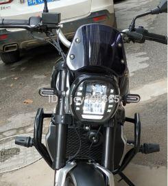 機車配件 龍嘉V咖250復古小風擋龍嘉銀瓶440復古摩托車改裝前擋風