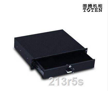 商城正品圖騰機櫃配件2U抽屜抽屜層板,鍵盤抽屜,機櫃鍵盤托