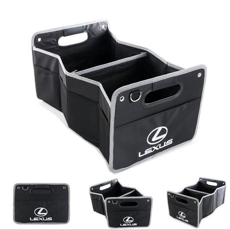 【寶寶優選】雷克薩斯凌志ES RX NX GS IS LS多功能車后備箱收納袋 車載改裝存儲箱桶 專用折疊式大容量雜物箱