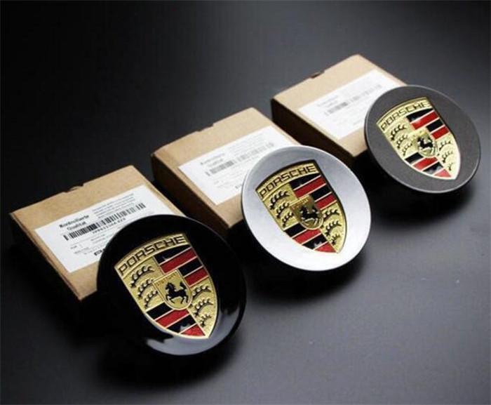 【寶寶優選】專用於保時捷輪轂蓋(4個價格)Panamera macan卡宴卡曼911輪胎蓋改裝車標車輪轂標