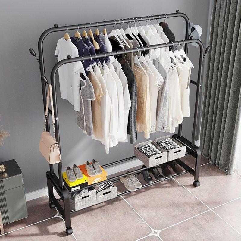 晾衣架 落地 臥室 單桿 掛衣架 室內 簡易 家用 陽臺 掛曬衣架子 客廳衣帽架