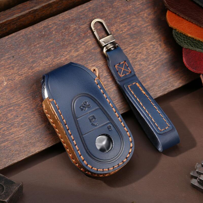 頭層牛皮 Benz 賓士 S-CLASS W223 IKEY 汽車鑰匙包 智能 感應 鑰匙皮套 鎖匙保護套