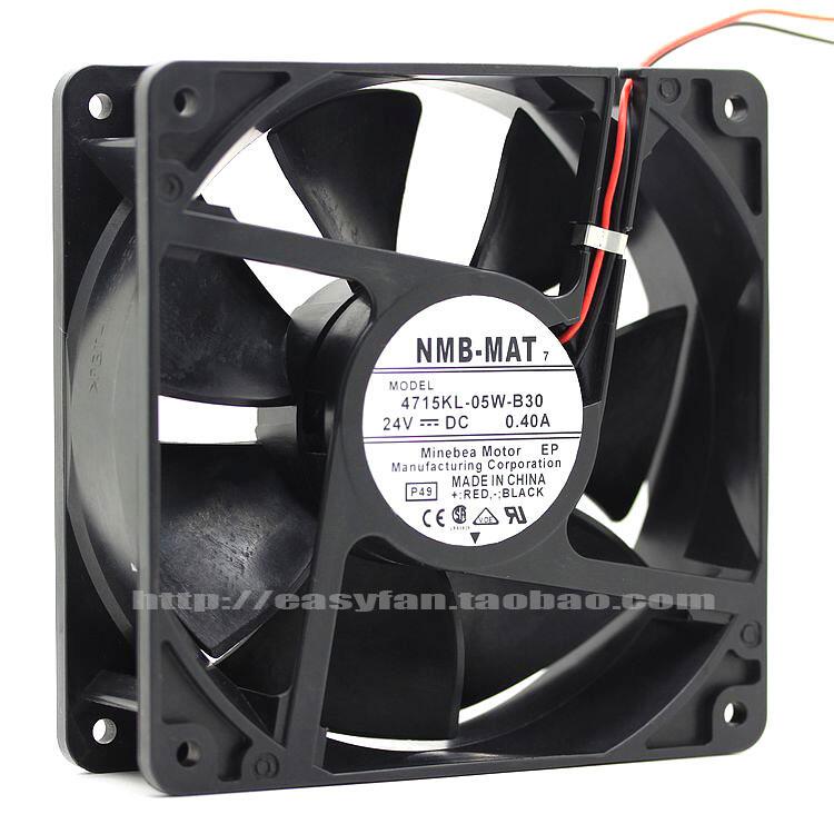 原裝NMB-MAT 7 4715KL-05W-B30 12038 24V 0.4A 雙滾珠變頻器風扇