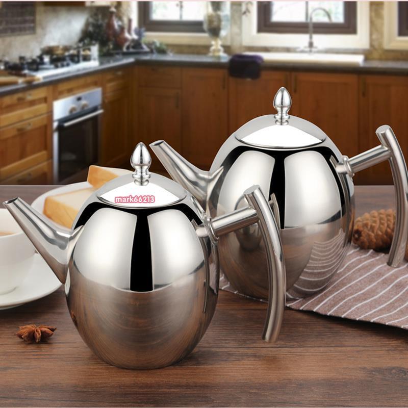 茶具 不銹鋼茶壺  飯店餐廳專用茶水壺 商用泡茶壺  帶濾網酒店餐館茶壺  商用
