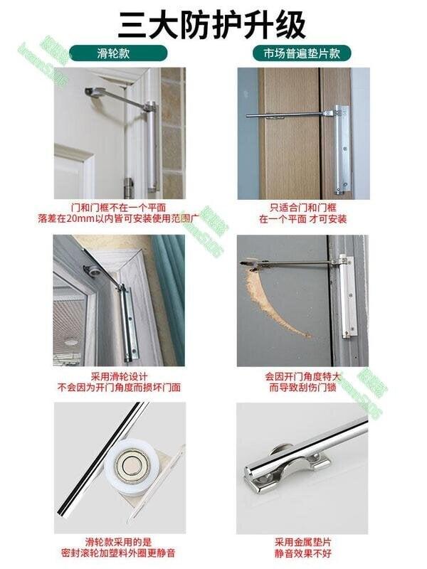 閉門器 家用自動關門器 大號室外鐵門防火門彈簧滑輪緩沖消防 美優品