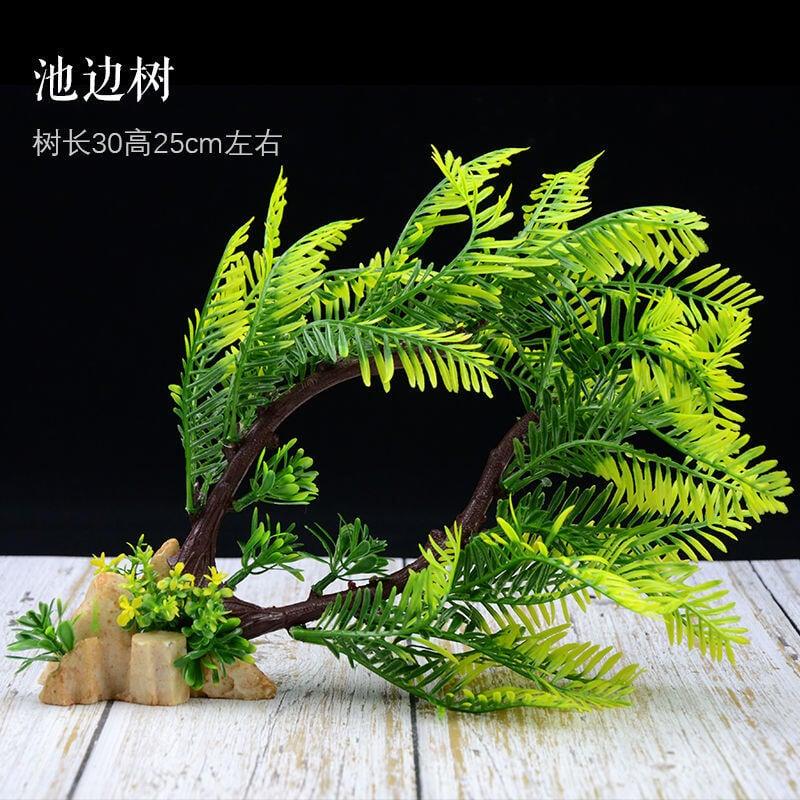 仿真水草魚缸裝飾造景套餐配件植物裝飾物擺件假水草塑料花樹水族