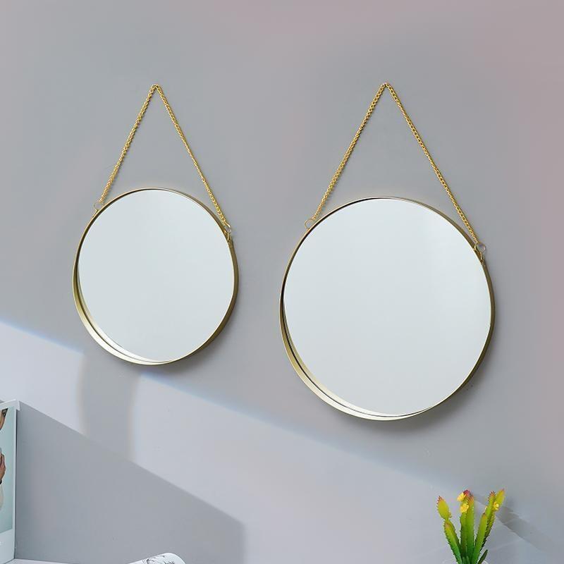 免打孔壁掛宿舍梳妝鏡壁掛浴室鏡洗漱臺鏡化妝鏡衛生間鏡子衛浴鏡