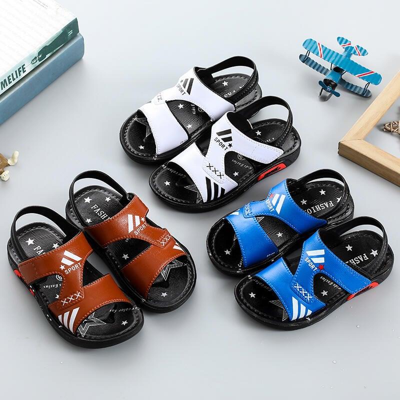 男童涼鞋夏季2019新款韓版男孩寶寶童鞋兒童中大童男軟底沙灘鞋