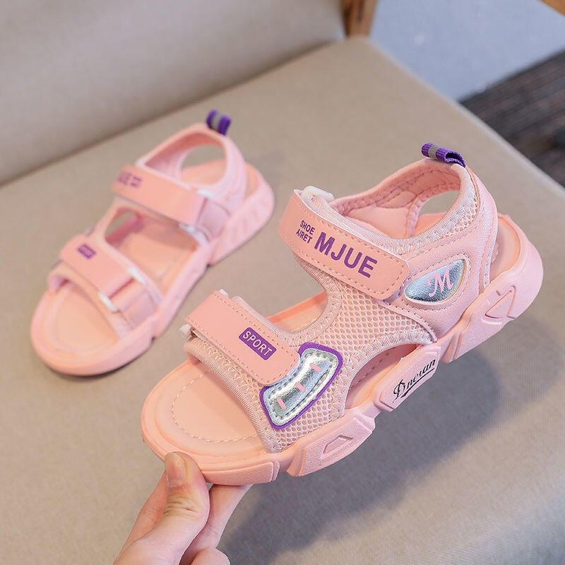 女童涼鞋2021夏季新款韓版小孩防滑軟底透氣男童沙灘鞋男中大童鞋