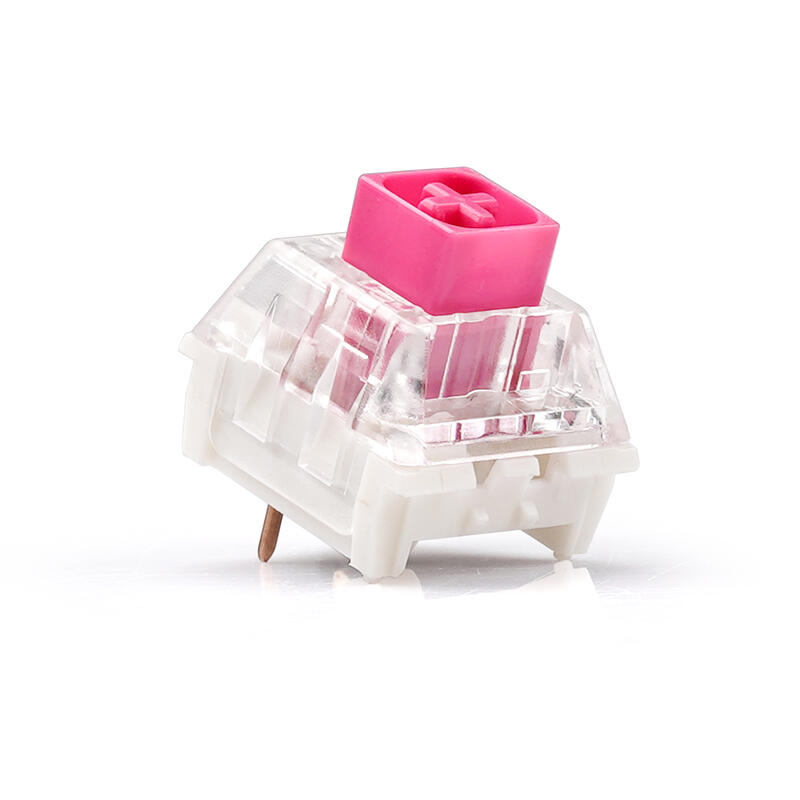 kailh凱華box軸粉軸機械鍵盤客制化軸65g 防水3腳黃金觸點兩段軸優選現貨