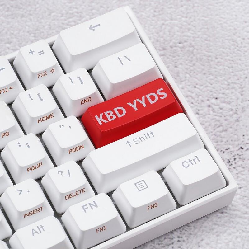 精品個性透光KBD YYDS回車enter個性紅色鍵帽R2背光機械鍵盤用優選現貨