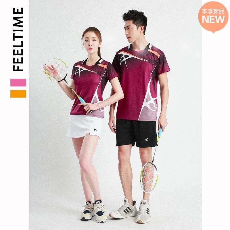 |熱賣|2021新款速干羽毛球服女夏季短袖運動套裝男排球乒乓球比賽