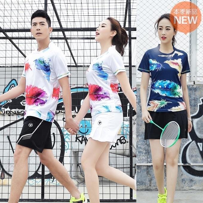 |熱賣|新款排球服套裝男女同款短袖短褲排球比賽訓練隊服毽球服短
