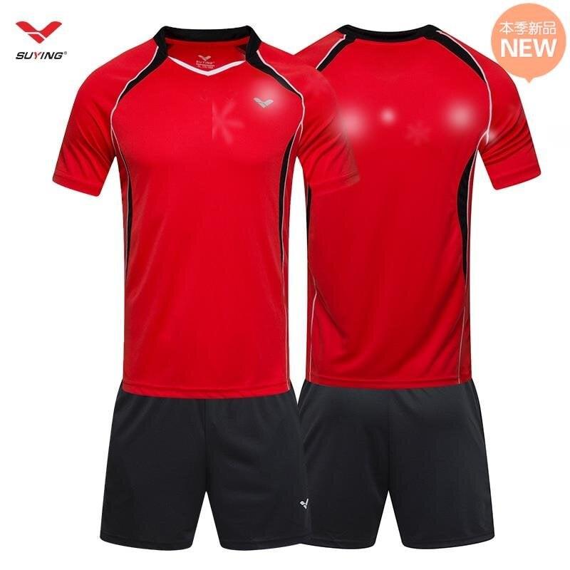 |熱賣|服套裝定制排球比賽寬松男女訓練學生透氣訓練短褲短a袖服隊