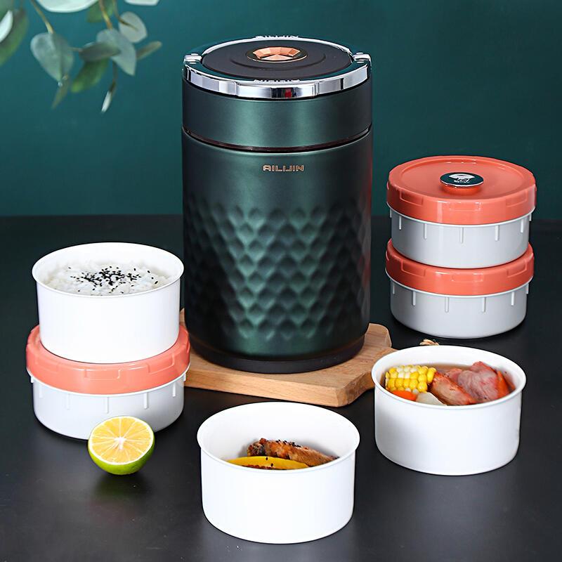 超長保溫桶便攜多層真空提鍋家用上班族超大容量手提便當飯盒陶瓷