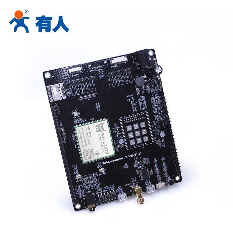 【有人】 4G cat1模塊gps定位串口dtu無線通訊模組G401tf測試底板